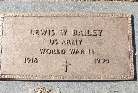 BAILEY (VETERAN WWII), LEWIS W - White County, Arkansas | LEWIS W BAILEY (VETERAN WWII) - Arkansas Gravestone Photos