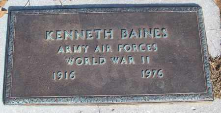 BAINES (VETERAN WWII), KENNETH - White County, Arkansas | KENNETH BAINES (VETERAN WWII) - Arkansas Gravestone Photos