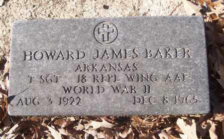 BAKER (VETERAN WWII), HOWARD JAMES - White County, Arkansas | HOWARD JAMES BAKER (VETERAN WWII) - Arkansas Gravestone Photos