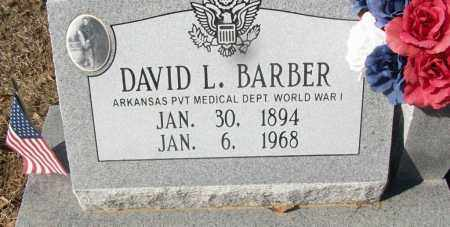 BARBER (VETERAN WWI), DAVID L - White County, Arkansas   DAVID L BARBER (VETERAN WWI) - Arkansas Gravestone Photos