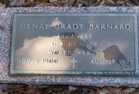 BARNARD (VETERAN WWII), HENRY GRADY - White County, Arkansas   HENRY GRADY BARNARD (VETERAN WWII) - Arkansas Gravestone Photos