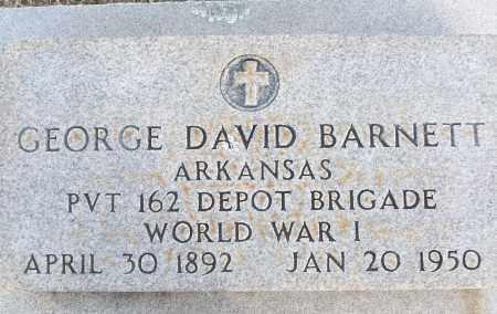 BARNETT (VETERAN WWI), GEORGE DAVID - White County, Arkansas | GEORGE DAVID BARNETT (VETERAN WWI) - Arkansas Gravestone Photos