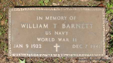 BARNETT (VETERAN WWII), WILLIAM T - White County, Arkansas | WILLIAM T BARNETT (VETERAN WWII) - Arkansas Gravestone Photos