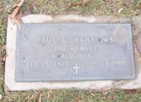 BARROWS  (VETERAN WWII), PAUL C - White County, Arkansas | PAUL C BARROWS  (VETERAN WWII) - Arkansas Gravestone Photos