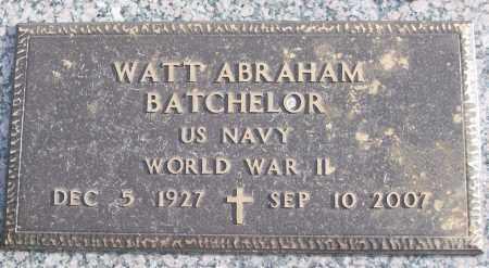 BATCHELOR (VETERAN WWII), WATT ABRAHAM - White County, Arkansas   WATT ABRAHAM BATCHELOR (VETERAN WWII) - Arkansas Gravestone Photos