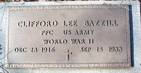 BAZZILL VETERAN WWII), CLIFFORD LEE - White County, Arkansas | CLIFFORD LEE BAZZILL VETERAN WWII) - Arkansas Gravestone Photos