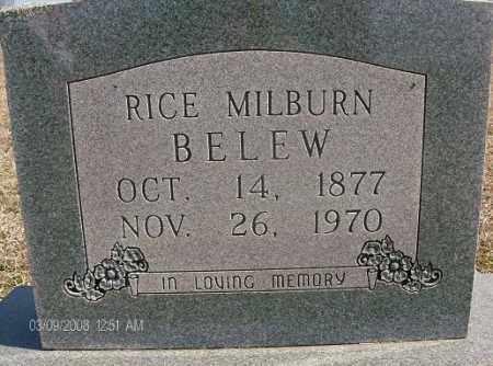 BELEW, RICE MILBURN - White County, Arkansas | RICE MILBURN BELEW - Arkansas Gravestone Photos