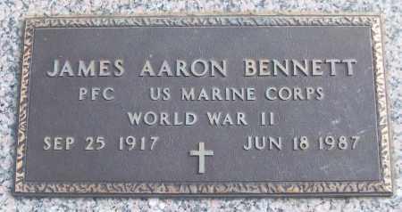 BENNETT (VETERAN WWII), JAMES AARON - White County, Arkansas   JAMES AARON BENNETT (VETERAN WWII) - Arkansas Gravestone Photos