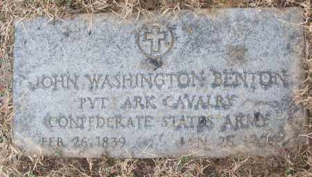BENTON (VETERAN CSA), JOHN WASHINGTON - White County, Arkansas | JOHN WASHINGTON BENTON (VETERAN CSA) - Arkansas Gravestone Photos