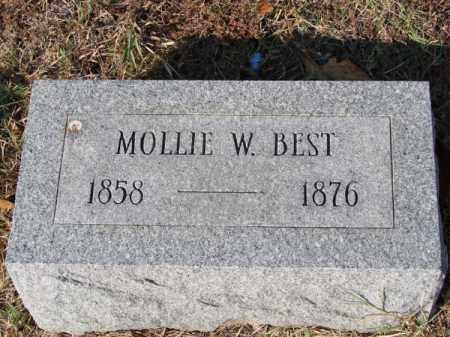 BEST, MOLLIE W - White County, Arkansas | MOLLIE W BEST - Arkansas Gravestone Photos