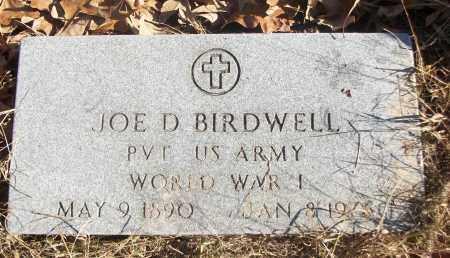 BIRDWELL (VETERAN WWI), JOE D - White County, Arkansas | JOE D BIRDWELL (VETERAN WWI) - Arkansas Gravestone Photos