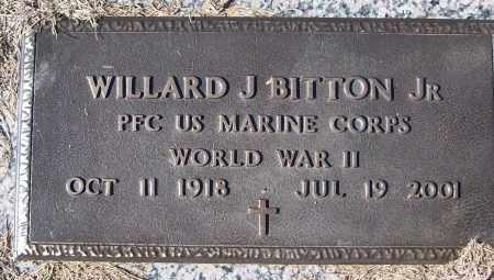 BITTON, JR (VETERAN WWII), WILLARD J - White County, Arkansas | WILLARD J BITTON, JR (VETERAN WWII) - Arkansas Gravestone Photos