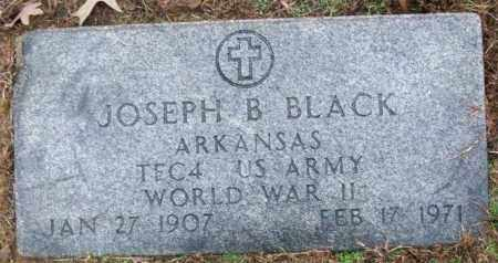 BLACK (VETERAN WWII), JOSEPH B - White County, Arkansas | JOSEPH B BLACK (VETERAN WWII) - Arkansas Gravestone Photos