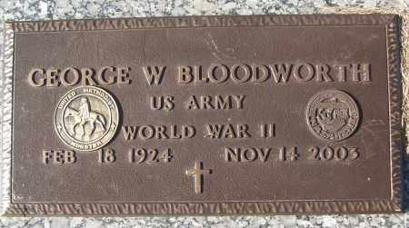 BLOODWORTH (VETERAN WWII), GEORGE W - White County, Arkansas | GEORGE W BLOODWORTH (VETERAN WWII) - Arkansas Gravestone Photos