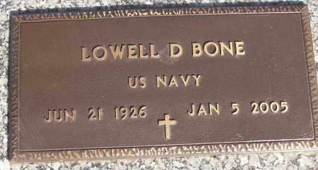 BONE (VETERAN), LOWELL D - White County, Arkansas | LOWELL D BONE (VETERAN) - Arkansas Gravestone Photos