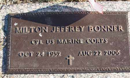 BONNER (VETERAN), MILTON JEFFREY - White County, Arkansas   MILTON JEFFREY BONNER (VETERAN) - Arkansas Gravestone Photos