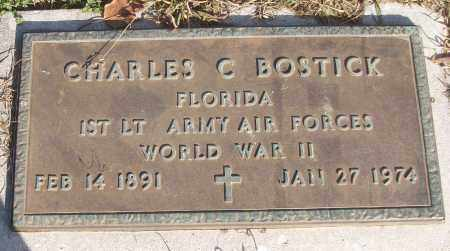BOSTICK (VETERAN WWII), CHARLES C - White County, Arkansas | CHARLES C BOSTICK (VETERAN WWII) - Arkansas Gravestone Photos
