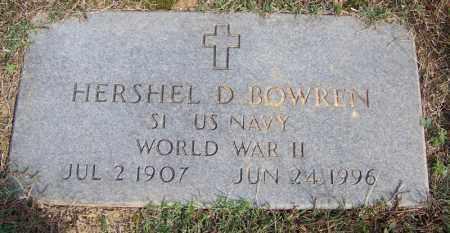 BOWREN (VETERAN WWII), HERSHEL D - White County, Arkansas | HERSHEL D BOWREN (VETERAN WWII) - Arkansas Gravestone Photos