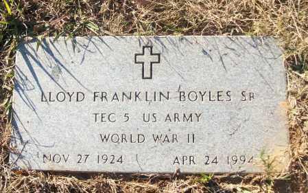 BOYLES, SR (VETERAN WWII), LLOYD FRANKLIN - White County, Arkansas   LLOYD FRANKLIN BOYLES, SR (VETERAN WWII) - Arkansas Gravestone Photos