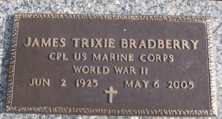 BRADBERRY (VETERAN WWII), JAMES TRIXIE - White County, Arkansas   JAMES TRIXIE BRADBERRY (VETERAN WWII) - Arkansas Gravestone Photos