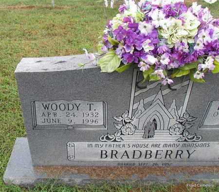 BRADBERRY, WOODY T (CLOSE UP) - White County, Arkansas | WOODY T (CLOSE UP) BRADBERRY - Arkansas Gravestone Photos