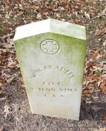BRADLEY (VETERAN CSA), W M - White County, Arkansas   W M BRADLEY (VETERAN CSA) - Arkansas Gravestone Photos