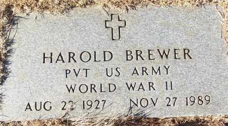 BREWER (VETERAN WWII), HAROLD - White County, Arkansas | HAROLD BREWER (VETERAN WWII) - Arkansas Gravestone Photos