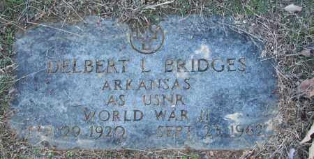 BRIDGES (VETERAN WWII), DELBERT L - White County, Arkansas   DELBERT L BRIDGES (VETERAN WWII) - Arkansas Gravestone Photos