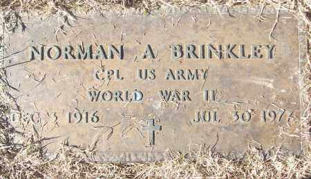 BRINKLEY (VETERAN WWII), NORMAN A - White County, Arkansas | NORMAN A BRINKLEY (VETERAN WWII) - Arkansas Gravestone Photos