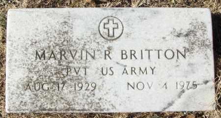 BRITTON (VETERAN), MARVIN R - White County, Arkansas   MARVIN R BRITTON (VETERAN) - Arkansas Gravestone Photos
