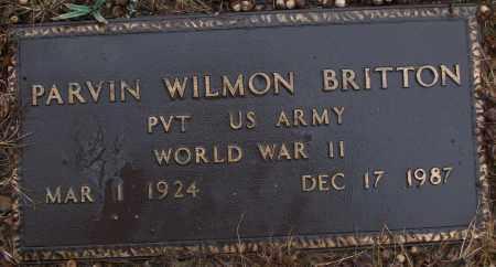 BRITTON (VETERAN WWII), PARVIN WILMON - White County, Arkansas | PARVIN WILMON BRITTON (VETERAN WWII) - Arkansas Gravestone Photos