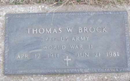 BROCK (VETERAN WWII), THOMAS W - White County, Arkansas   THOMAS W BROCK (VETERAN WWII) - Arkansas Gravestone Photos