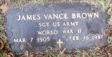 BROWN  (VETERAN WWII), JAMES VANCE - White County, Arkansas   JAMES VANCE BROWN  (VETERAN WWII) - Arkansas Gravestone Photos