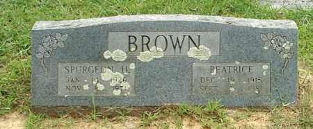BROWN, SPURGEON H - White County, Arkansas   SPURGEON H BROWN - Arkansas Gravestone Photos