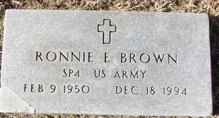 BROWN (VETERAN), RONNIE E - White County, Arkansas | RONNIE E BROWN (VETERAN) - Arkansas Gravestone Photos