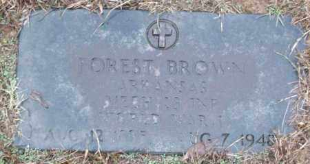 BROWN (VETERAN WWI), FOREST - White County, Arkansas | FOREST BROWN (VETERAN WWI) - Arkansas Gravestone Photos