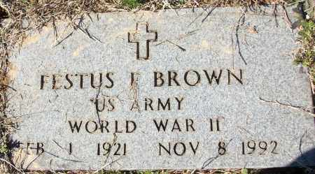 BROWN (VETERAN WWII), FESTUS F - White County, Arkansas | FESTUS F BROWN (VETERAN WWII) - Arkansas Gravestone Photos