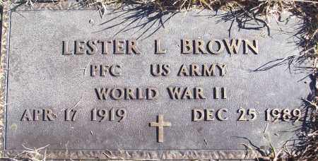 BROWN (VETERAN WWII), LESTER L - White County, Arkansas | LESTER L BROWN (VETERAN WWII) - Arkansas Gravestone Photos