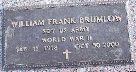 BRUMLOW (VETERAN WWII), WILLIAM FRANK - White County, Arkansas | WILLIAM FRANK BRUMLOW (VETERAN WWII) - Arkansas Gravestone Photos