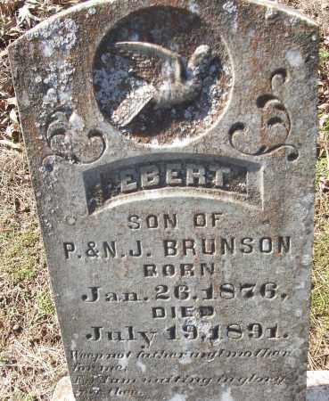 BRUNSON, EBERT - White County, Arkansas | EBERT BRUNSON - Arkansas Gravestone Photos
