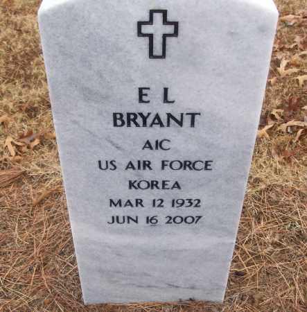 BRYANT (VETERAN KOR), E L - White County, Arkansas | E L BRYANT (VETERAN KOR) - Arkansas Gravestone Photos
