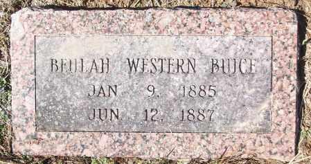 WESTERN BRUCE, BEULAH - White County, Arkansas | BEULAH WESTERN BRUCE - Arkansas Gravestone Photos
