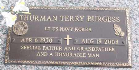 BURGESS (VETERAN KOR), THURMAN TERRY - White County, Arkansas | THURMAN TERRY BURGESS (VETERAN KOR) - Arkansas Gravestone Photos