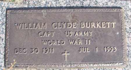BURKETT (VETERAN WWII), WILLIAM CLYDE - White County, Arkansas | WILLIAM CLYDE BURKETT (VETERAN WWII) - Arkansas Gravestone Photos