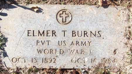 BURNS (VETERAN WWI), ELMER T - White County, Arkansas | ELMER T BURNS (VETERAN WWI) - Arkansas Gravestone Photos