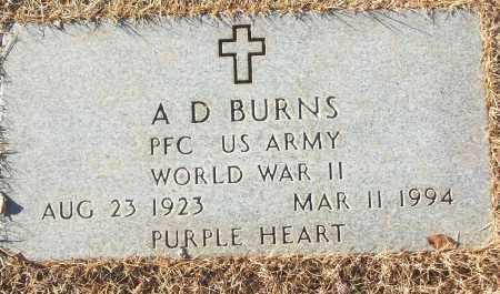 BURNS (VETERAN WWII), A D - White County, Arkansas | A D BURNS (VETERAN WWII) - Arkansas Gravestone Photos