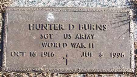 BURNS (VETERAN WWII), HUNTER D - White County, Arkansas   HUNTER D BURNS (VETERAN WWII) - Arkansas Gravestone Photos