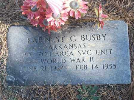 BUSBY (VETERAN WWII), EARNEST C - White County, Arkansas | EARNEST C BUSBY (VETERAN WWII) - Arkansas Gravestone Photos