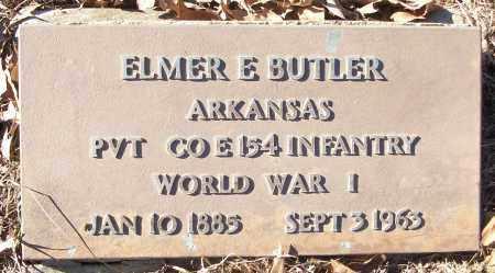 BUTLER (VETERAN WWI), ELMER E - White County, Arkansas | ELMER E BUTLER (VETERAN WWI) - Arkansas Gravestone Photos
