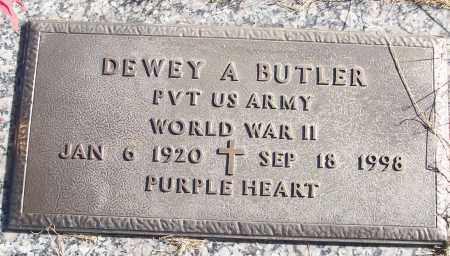 BUTLER (VETERAN WWII), DEWEY A - White County, Arkansas | DEWEY A BUTLER (VETERAN WWII) - Arkansas Gravestone Photos